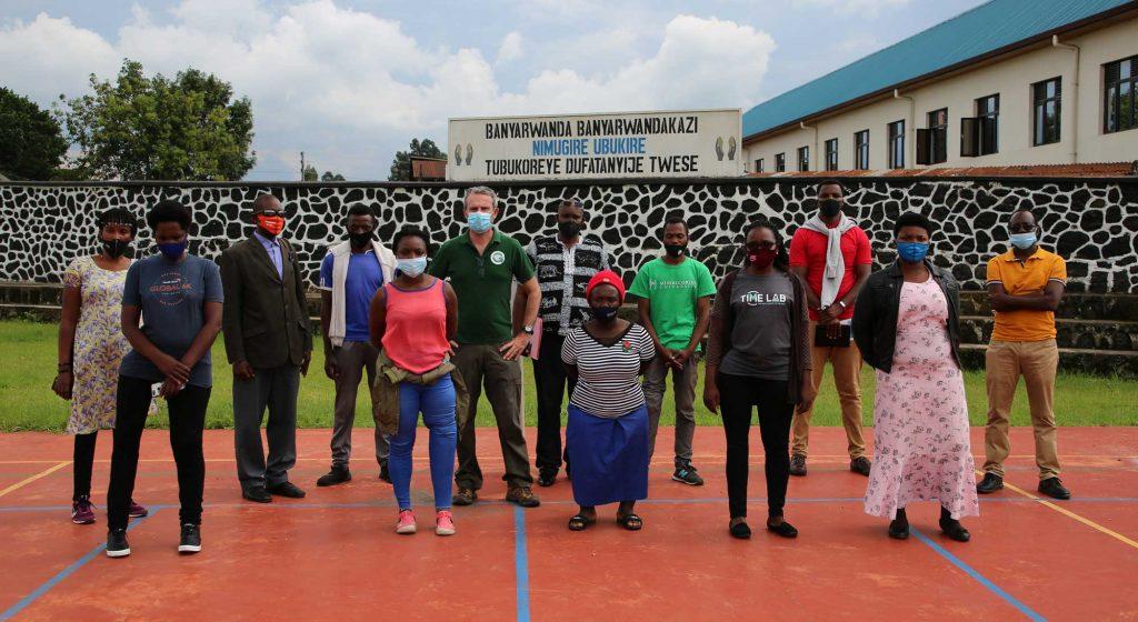 Les porteurs du projet Sport du Comité National Paralympique Rwandais